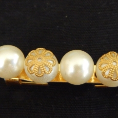 Four-Pearl and Brass Brooch-was KSH400.00 now KSH280.00