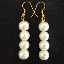 Dangling Pearl Earrings-was KSH400.00 now KSH280.00