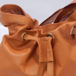 Kikapu Leather Bucket Bag (closeup)
