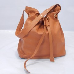 Kikapu Leather Bucket Bag-Ksh7500.00 (Available in a variety of colours)